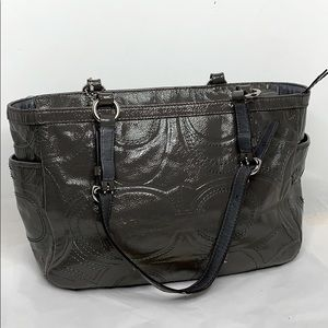 Coach Gallery Stitched Patent Leather Embossed